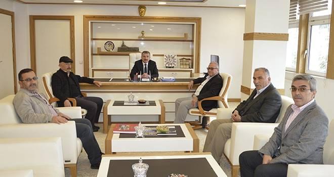 Başkan Özdemir'e Sivil Toplum Örgütleri temsilcilerinden ziyaret