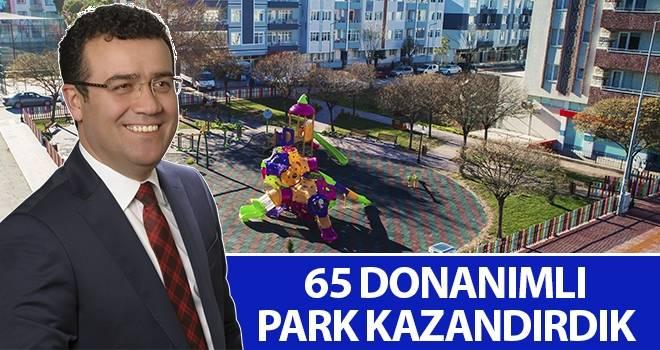 Başkan Taşçı: 65 donanımlı park kazandırdık