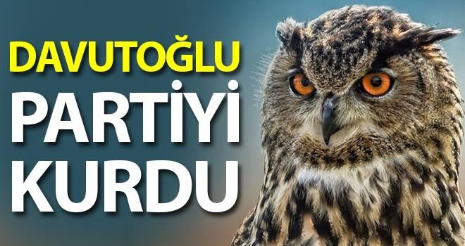 Davutoğlu partiyi kurdu