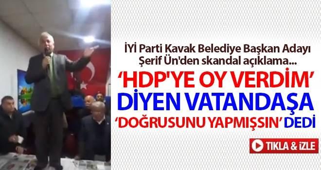 İYİ Parti Kavak Belediye Başkan Adayı Şerif Ün'den skandal açıklama...