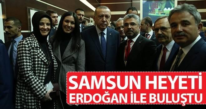 Başkan Aksu ve Samsun Heyeti Erdoğan ile buluştu