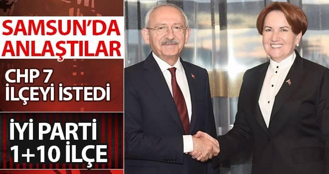 CHP'ye 7 ilçe, İYİ Parti'ye 1+10 ilçe