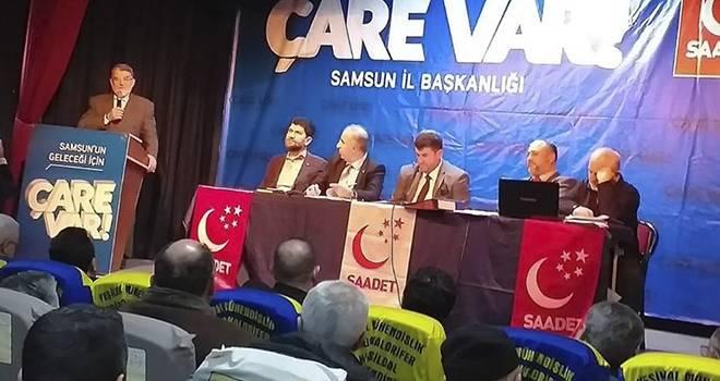 Saadet Partisi Samsun'da Son Temayülü Yaptı