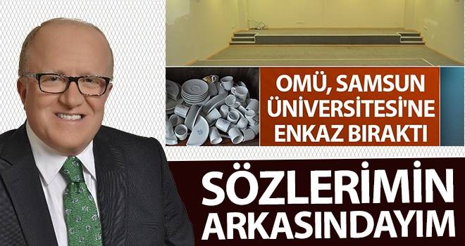 Samsun Üniversitesi Rektörü Mahmut Aydın: Sözlerimin arkasındayım