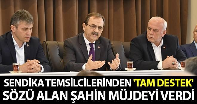 Sendika temsilcilerinden 'Tam Destek' sözü alan Başkan Zihni Şahin, müjdeyi verdi