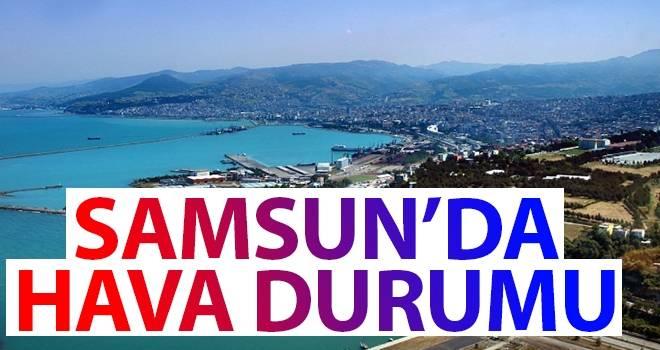 5 Ağustos Samsun'da Hava Durumu