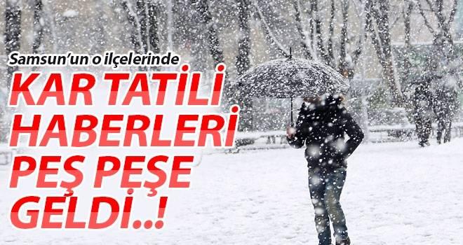 Samsun'da yoğun kar yağışı okulları tatil etti!