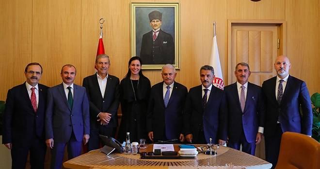 Samsun Heyeti, Meclis Başkanı'nı Ziyaret Etti