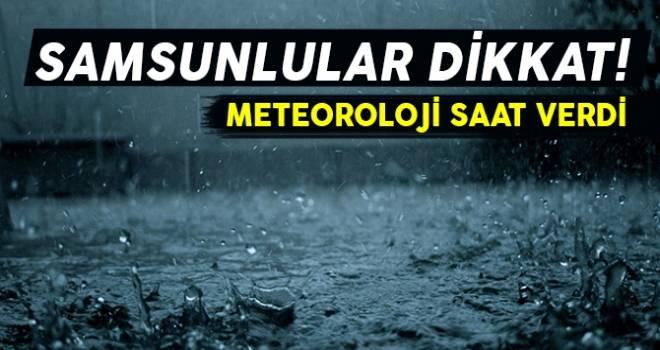 15 Eylül Samsun'da Hava Durumu