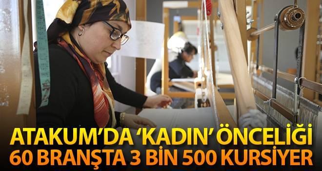 Atakum'da 'KADIN' önceliği 60 branşta 3 bin 500 kursiyer…