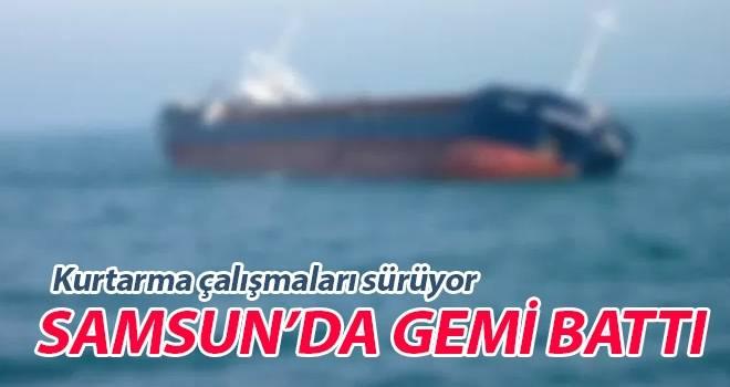 Samsun'da Gemi Battı..! Kurtarma Çalışmaları Sürüyor..!
