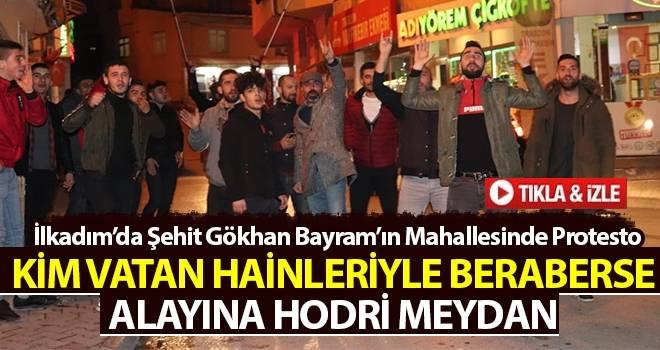 Samsun Kadifekale Mahallesi'nde Millet İttifakı ve Ezanın Islıklanması Protesto Edildi