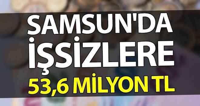 Samsun'da işsizlere 53,6 milyon TL