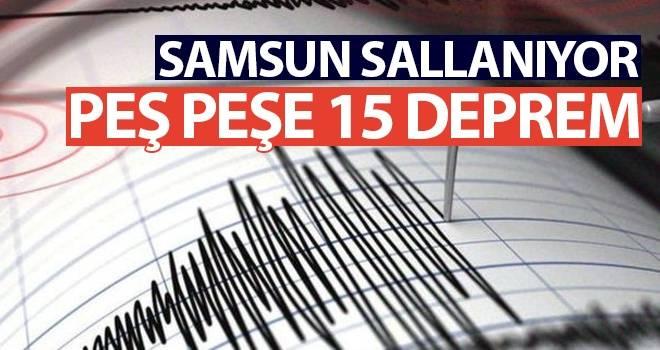Samsun Sallanıyor... Peş Peşe 15 Deprem