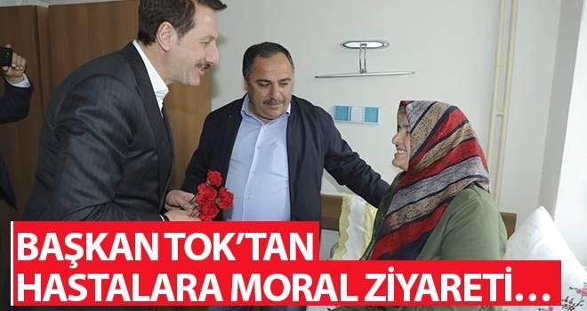 Başkan Tok'tan Hastalara Moral Ziyareti…