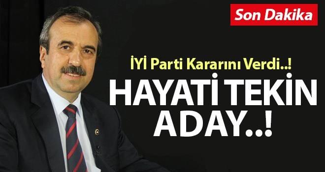 Hayati Tekin İYİ Parti Samsun Büyükşehir Belediye Başkan Adayı oldu!