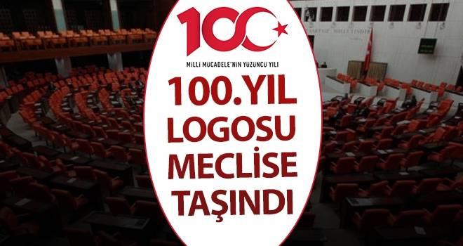 19 Mayıs'ın 100. Yıl Logosu Meclise Taşındı