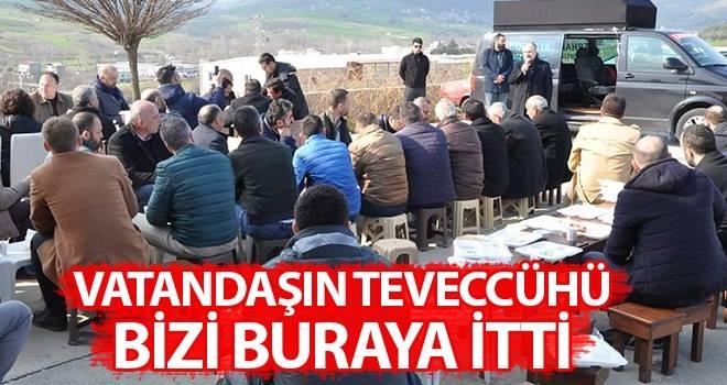 Erhan Usta: Vatandaşın teveccühü bizi buraya itti