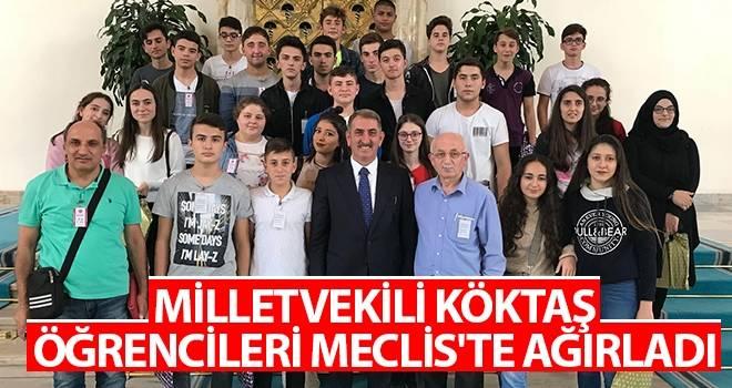Milletvekili Köktaş, öğrencileri Meclis'te ağırladı