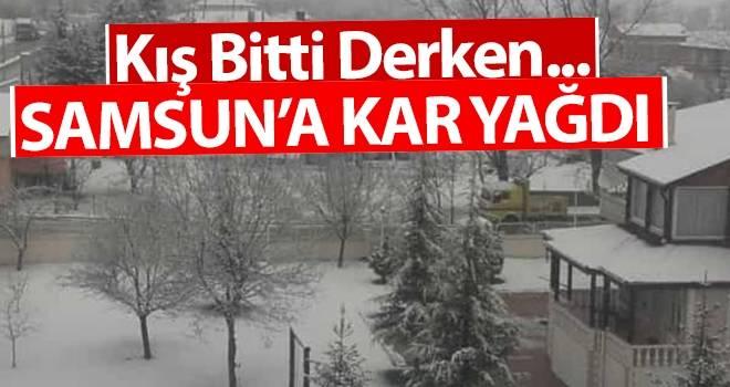 Samsun'da Kar Yağışı..!
