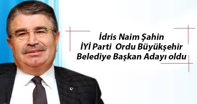 İdris Naim Şahin İYİ Parti Ordu Büyükşehir Belediye Başkan Adayı