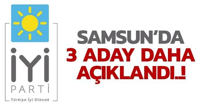 İYİ Parti Samsun'da 3 ilçe adayını açıkladı..!