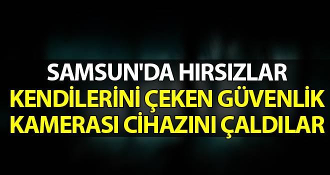 Samsun'da Hırsızlar Kendilerini Çeken Güvenlik Kamerası Cihazını Çaldılar