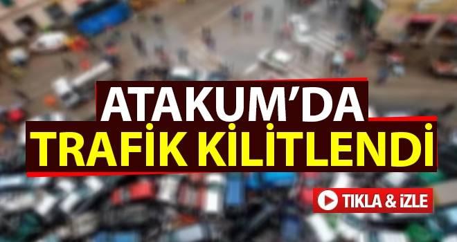 Atakum'da trafik kilitlendi..! Vatandaş isyan etti....