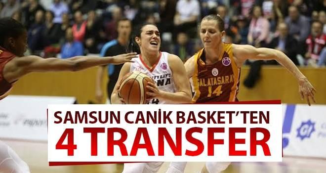 Samsun Canik Basket'ten 4 transfer