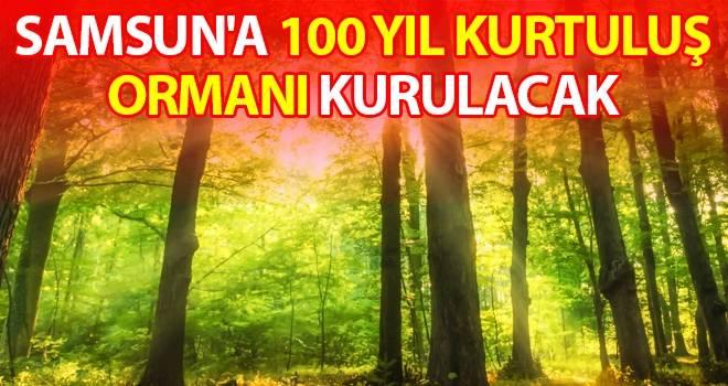 Samsun'a 100 Yıl Kurtuluş Ormanı Kurulacak